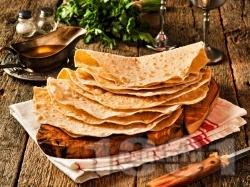 Класически домашен арменски хляб лаваш - снимка на рецептата
